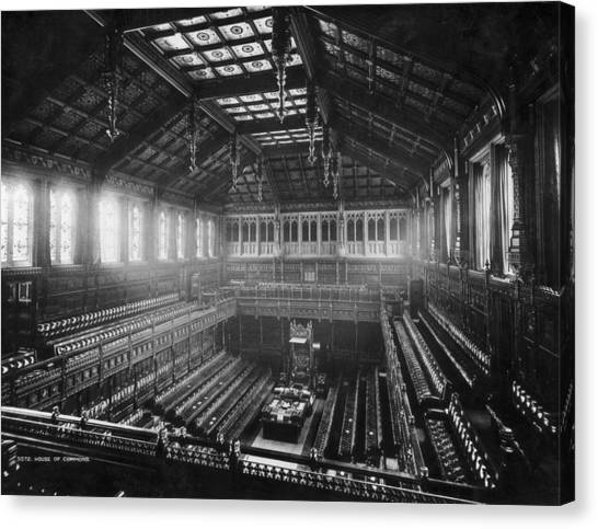 House Of Commons Canvas Print by London Stereoscopic Company