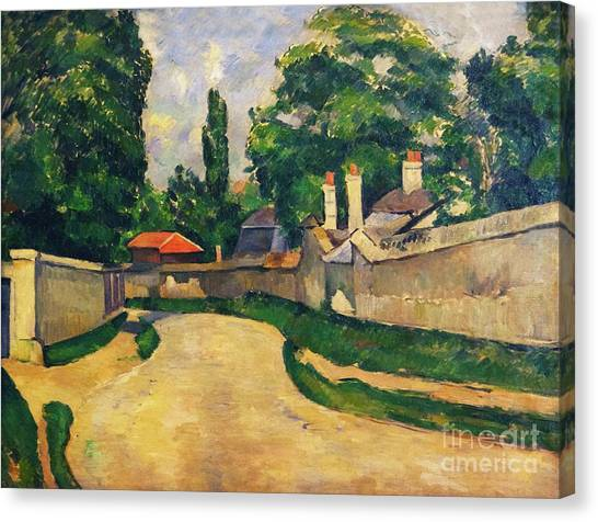 State Hermitage Canvas Print - Houses Along A Road by Peter Barritt