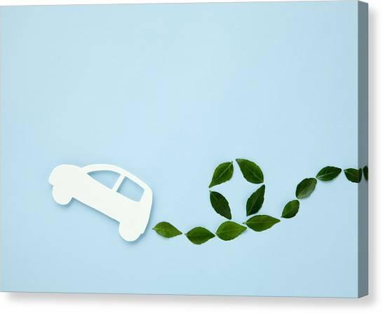 Image Of Eco Car Canvas Print by Imagenavi