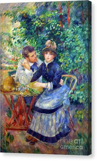 State Hermitage Canvas Print - In The Garden by Peter Barritt