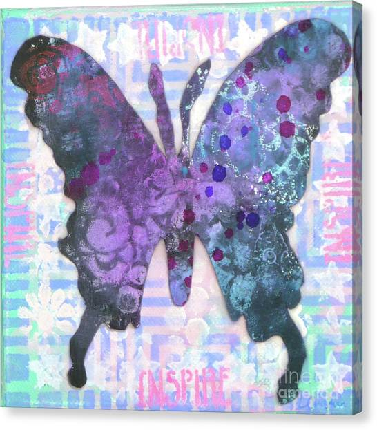 Inspire Butterfly Canvas Print