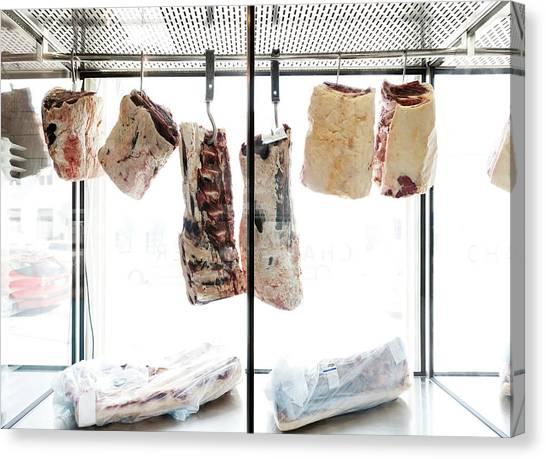 Interior Of Butcher Canvas Print
