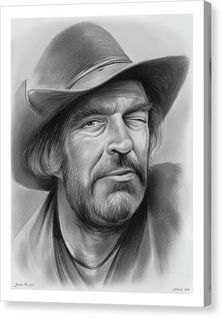Cowboy Canvas Print - Jack Elam by Greg Joens