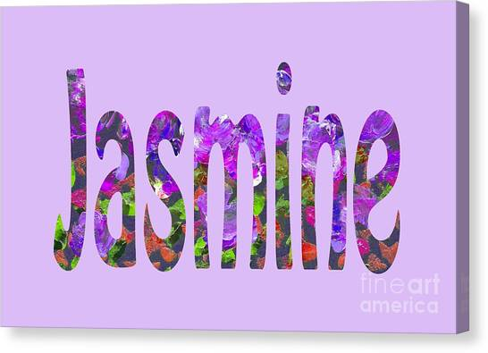 Canvas Print featuring the digital art Jasmine by Corinne Carroll