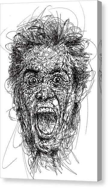 Grinch Canvas Print - Jim Carrey by Laila Ab