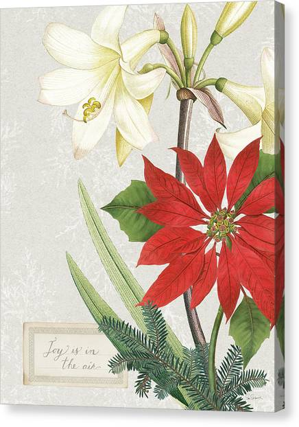 Amaryllis Canvas Print - Joyful Tidings II by Sue Schlabach