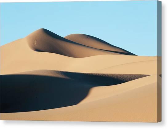 Gobi Canvas Print - Khongoryn Els Sand Dunes In Southern by David Tipling