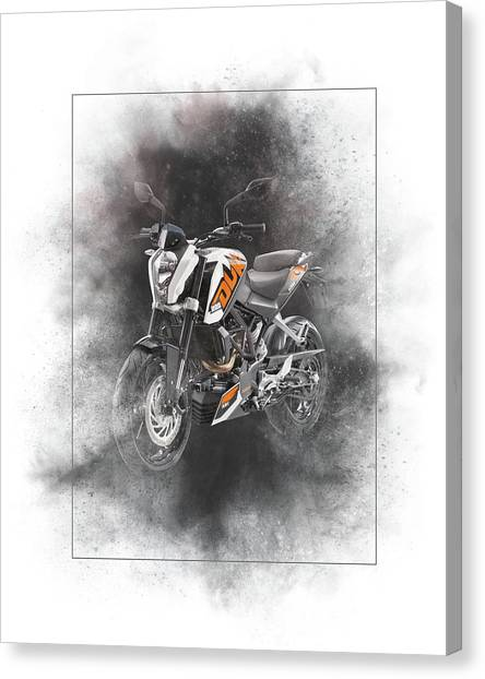 Duke University Canvas Print - Ktm Duke 200 Painting by Smart Aviation