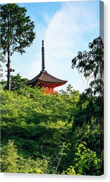 Kyoto, Japan Taisan-ji Temple Nearby Canvas Print by Miva Stock