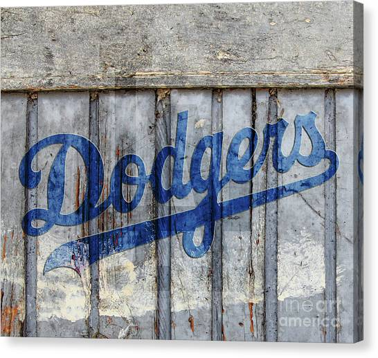 La Dodgers Rustic Canvas Print