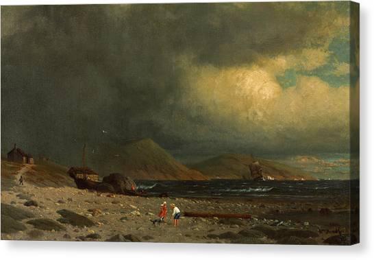 Newfoundland And Labrador Canvas Print - Labrador Coast by William Bradford