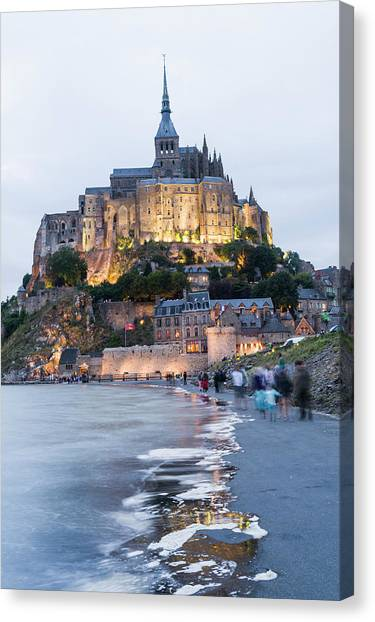 Le Mont Saint Michel, Normandy, France Canvas Print