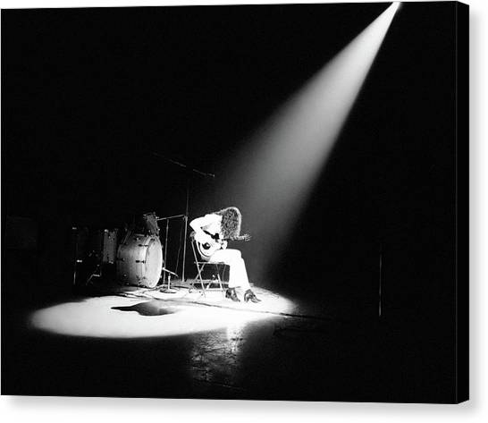 1972 Canvas Print - Led Zeppelin Performs In 1972 by Michael Ochs Archives
