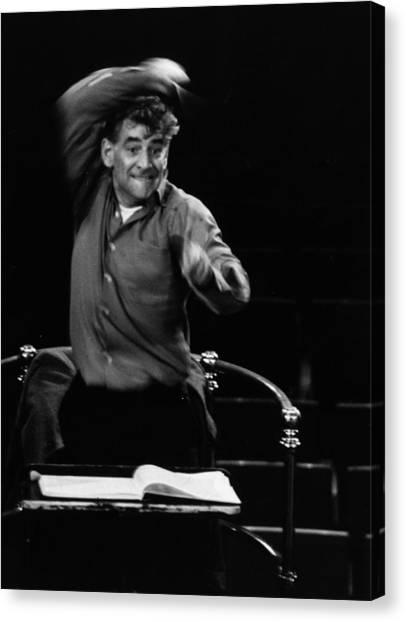 Leonard Bernstein Canvas Print by Erich Auerbach