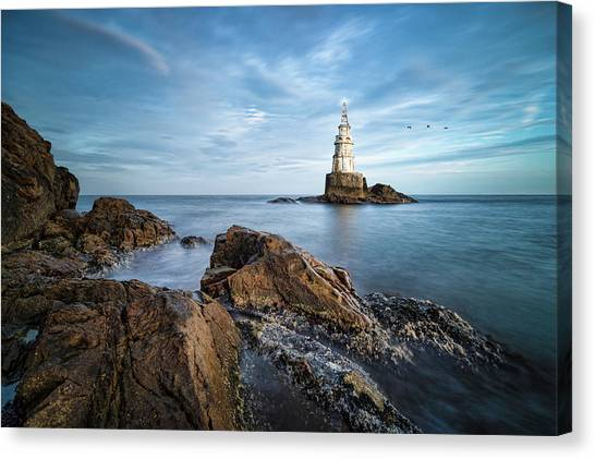Lighthouse In Ahtopol, Bulgaria Canvas Print