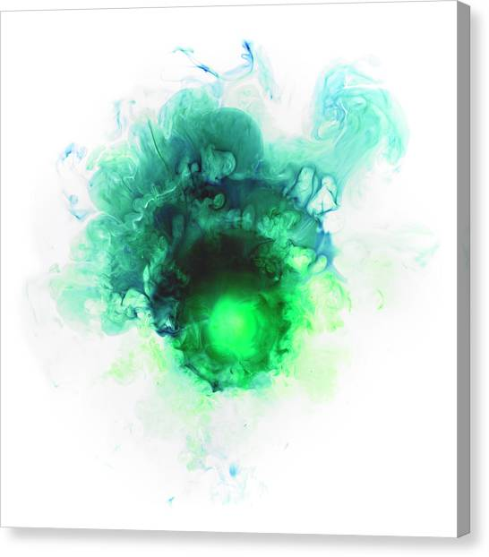 Liquid Color In Water Canvas Print by Sunny