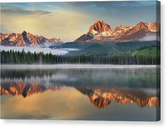 Little Redfish Lake, Sawtooth Mountains Canvas Print