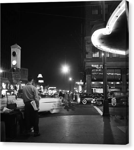 Los Angeles In The 1950s Canvas Print by Michael Ochs Archives