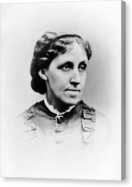 Louisa May Alcott Canvas Print by Hulton Archive