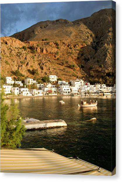 Loutro, Crete, Greece Canvas Print