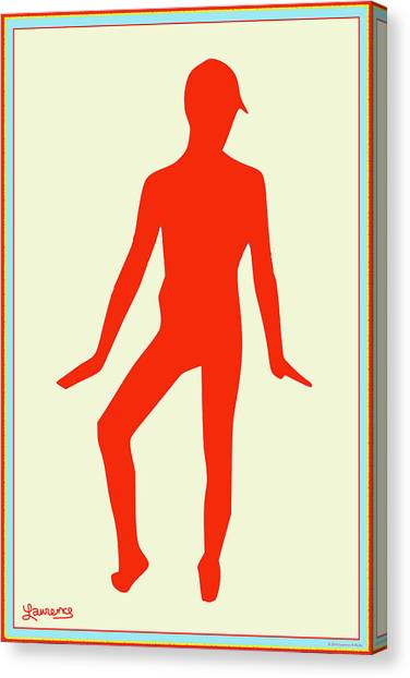 Male Nudes Canvas Print - Male In Red by Laurence Wolfe