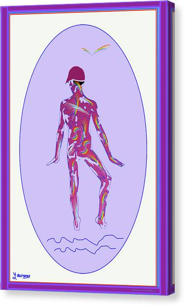 Male Nudes Canvas Print - Male Violet by Laurence Wolfe