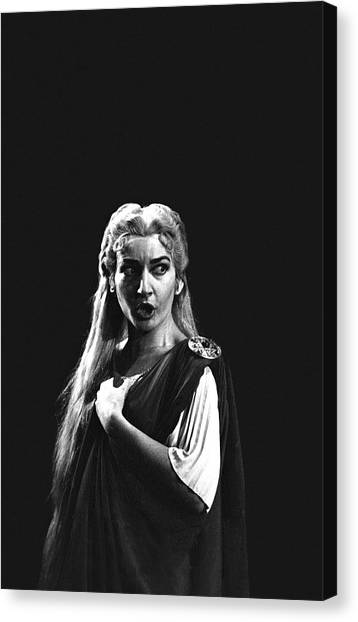 Maria Callas Canvas Print by Gordon Parks