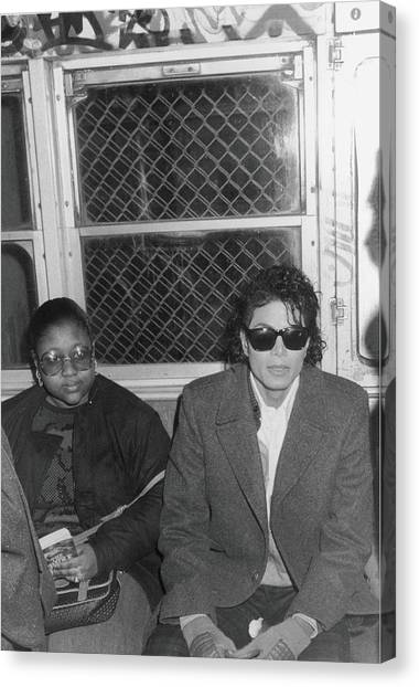 Michael Jackson In Bad Canvas Print by Hulton Archive