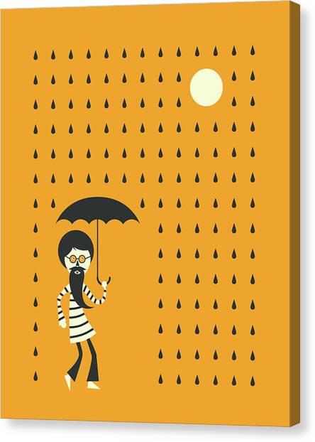 Minimal Rain Canvas Print by Jazzberry Blue