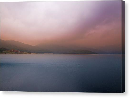Canvas Print featuring the photograph Misty Afternoon by Milena Ilieva