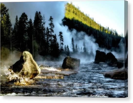 Canvas Print featuring the photograph Misty Morning by Pete Federico