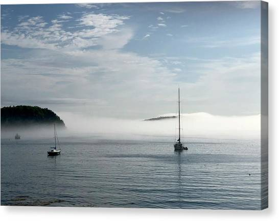 Dick Goodman Canvas Print - Morning Mist On Frenchman's Bay by Dick Goodman