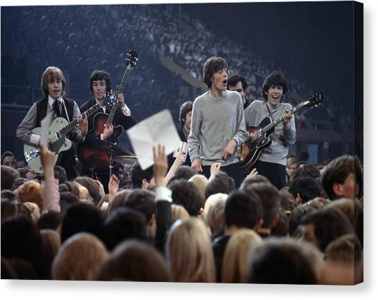 Music. 1964. London. The Rock Band The Canvas Print by Popperfoto