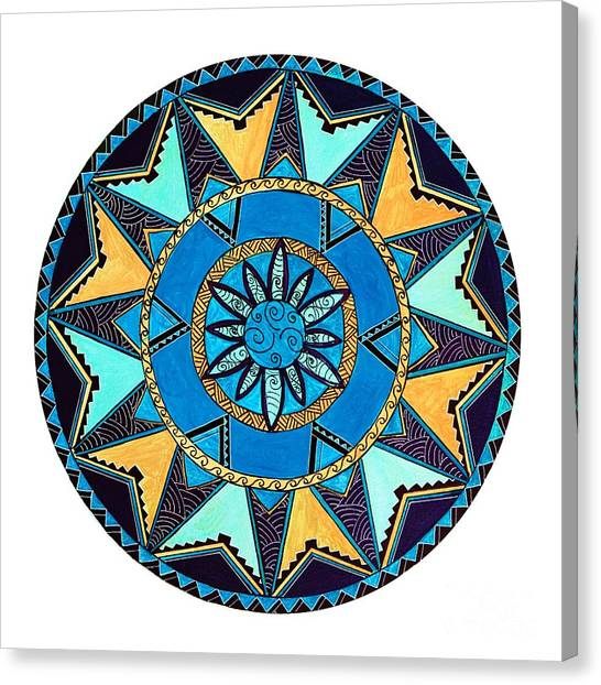 3099fb755 Polynesian Tribal Canvas Print - Native Maori Mandala by Naomi Matthew