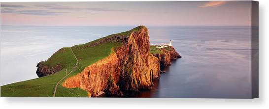 Canvas Print featuring the photograph Neist Point Sunset - Isle Of Skye by Grant Glendinning