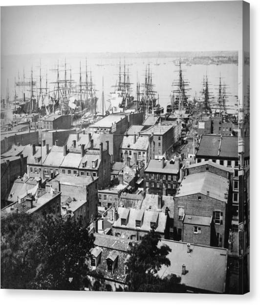 New York Harbour Canvas Print by William England