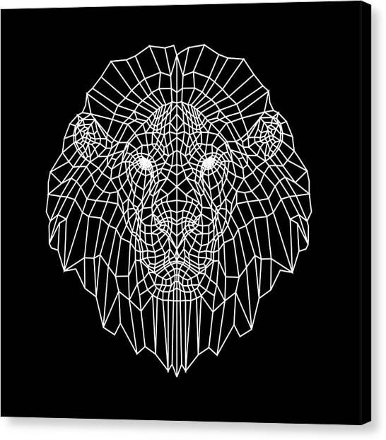 Lynx Canvas Print - Night Lion by Naxart Studio