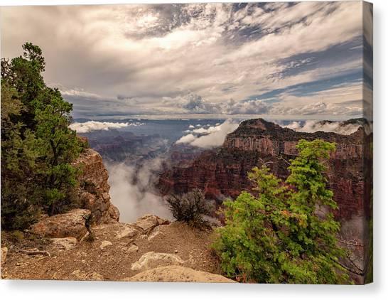 North Rim Canvas Print - North Rim Fog 1 - Grand Canyon National Park - Arizona by Brian Harig