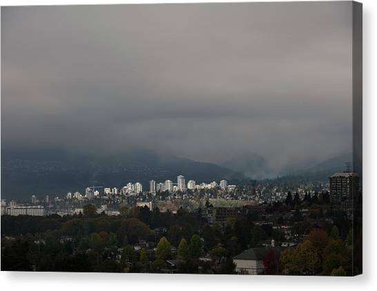 Canvas Print featuring the photograph North Vancouver  by Juan Contreras