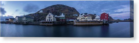 Norwegian Seaside Town Nyksund Canvas Print