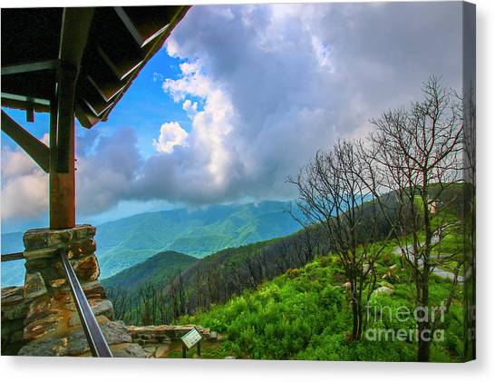 Canvas Print featuring the photograph Observation Tower View by Tom Claud