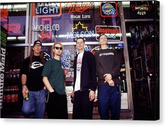 Offspring Chicago 1994 Canvas Print by Martyn Goodacre