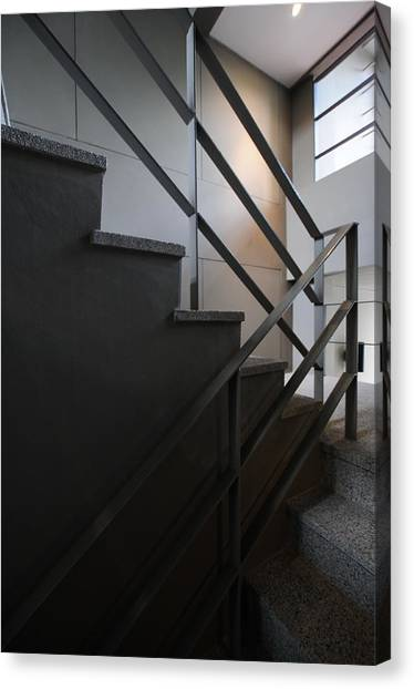 It Professional Canvas Print - Open Stairwell In A Modern Building by Primeimages