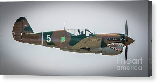 Canvas Print featuring the photograph P-40 Warhawk by Tom Claud