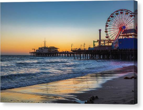Pacific Park On The Pier Canvas Print