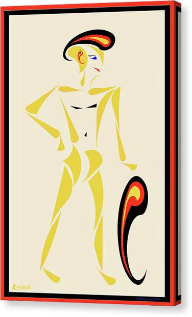 Male Nudes Canvas Print - Paisley by Laurence Wolfe