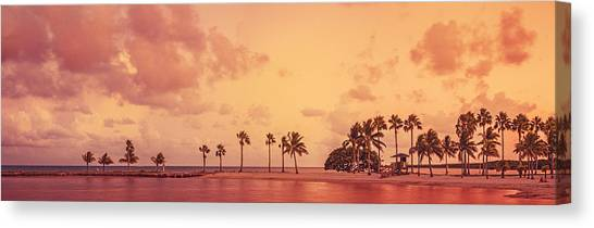 Panorama Beach Miami Canvas Print by Thepalmer