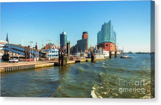 Panoramic View Of Hamburg. Canvas Print