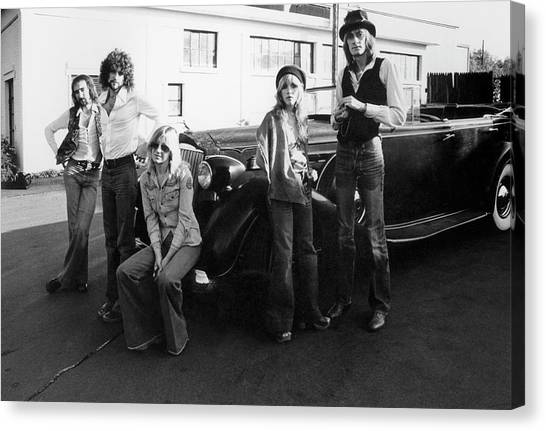 Photo Of Fleetwood Mac Canvas Print by Fin Costello