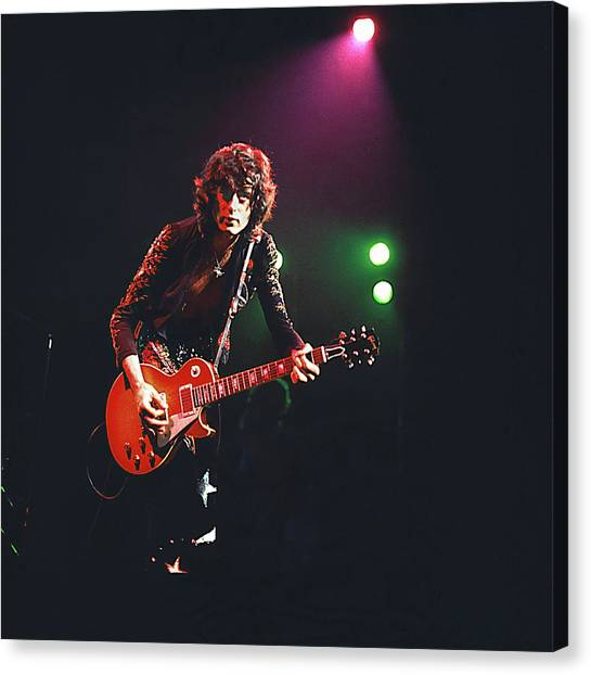 Jimmy Page Canvas Print - Photo Of Jimmy Page And Led Zeppelin by David Redfern